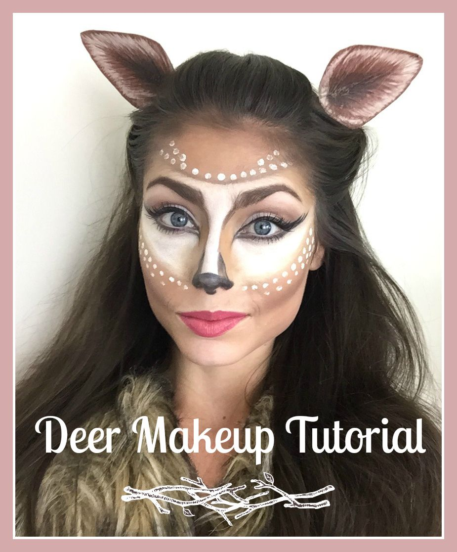 Deer makeup tutorial halloween costume makeup halloween makeup deer makeup tutorial halloween costume makeup baditri Gallery