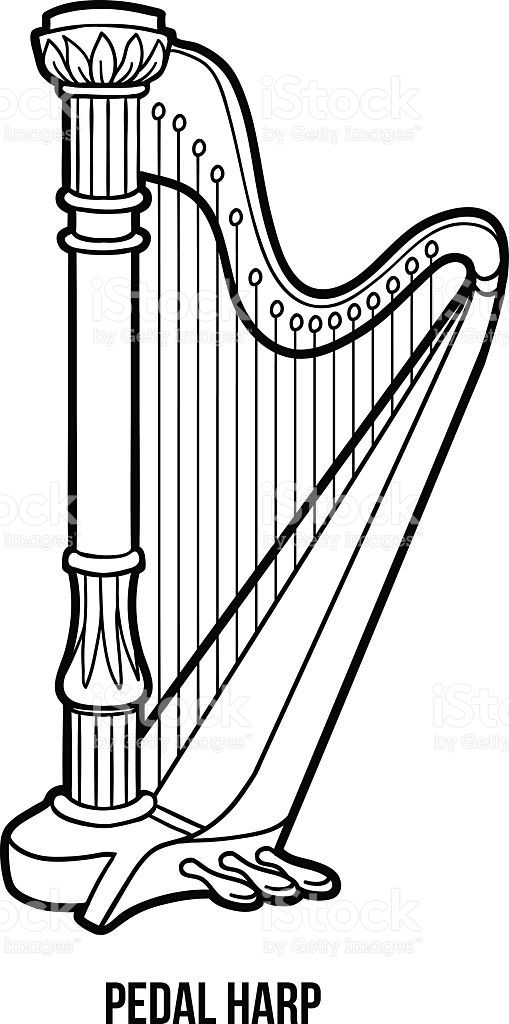 harp coloring pages-#21