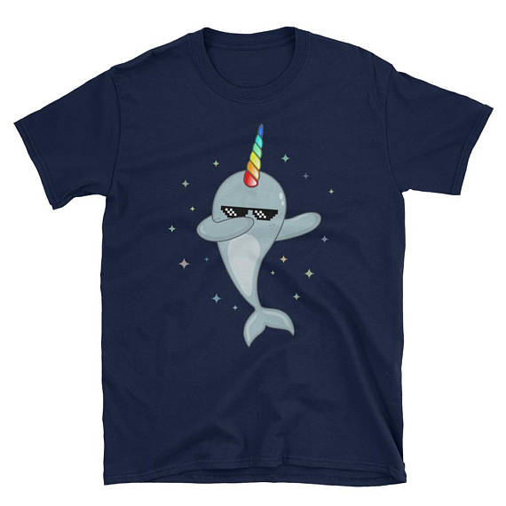451ad3c3 Narwhals are awesome! A cool Narwhal Dabbing t shirt perfect for people who  love Narwhal,Unicorns and the Dab dance. This funny Narwhal t shirt makes  an ...