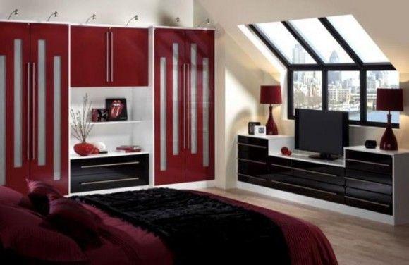 conceptions chambres coucher rouge et noir rouge - Chambre Rouge Et Noir