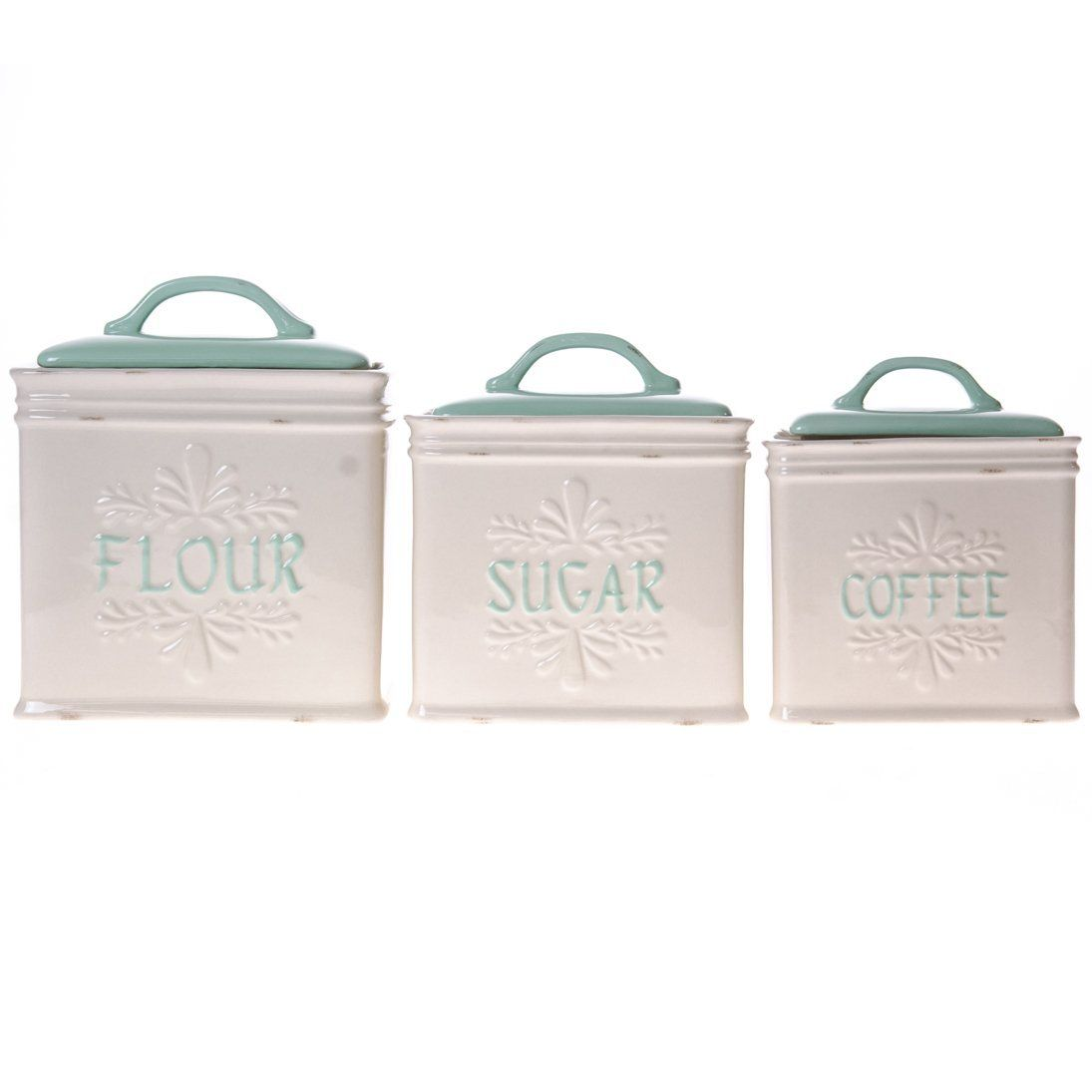 Kitchen Canisters Ceramic Combo Stoneware Canister Set Grandma 39s Pantry For