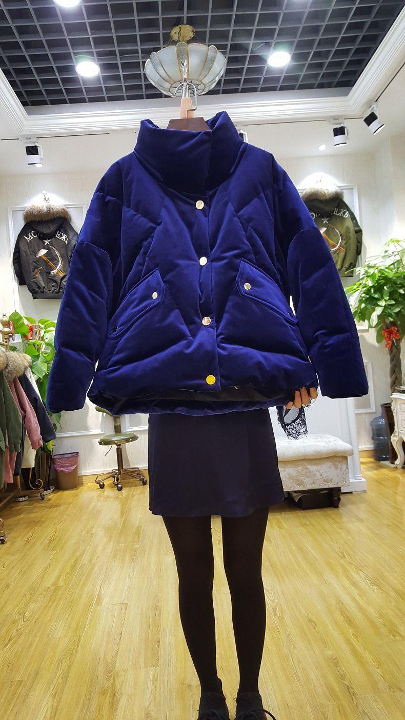 Lxunyi бархатное пальто зимние корейские Повседневное свободные короткие  Для женщин S Пуховики и парки для мужчин a3cebf23c04
