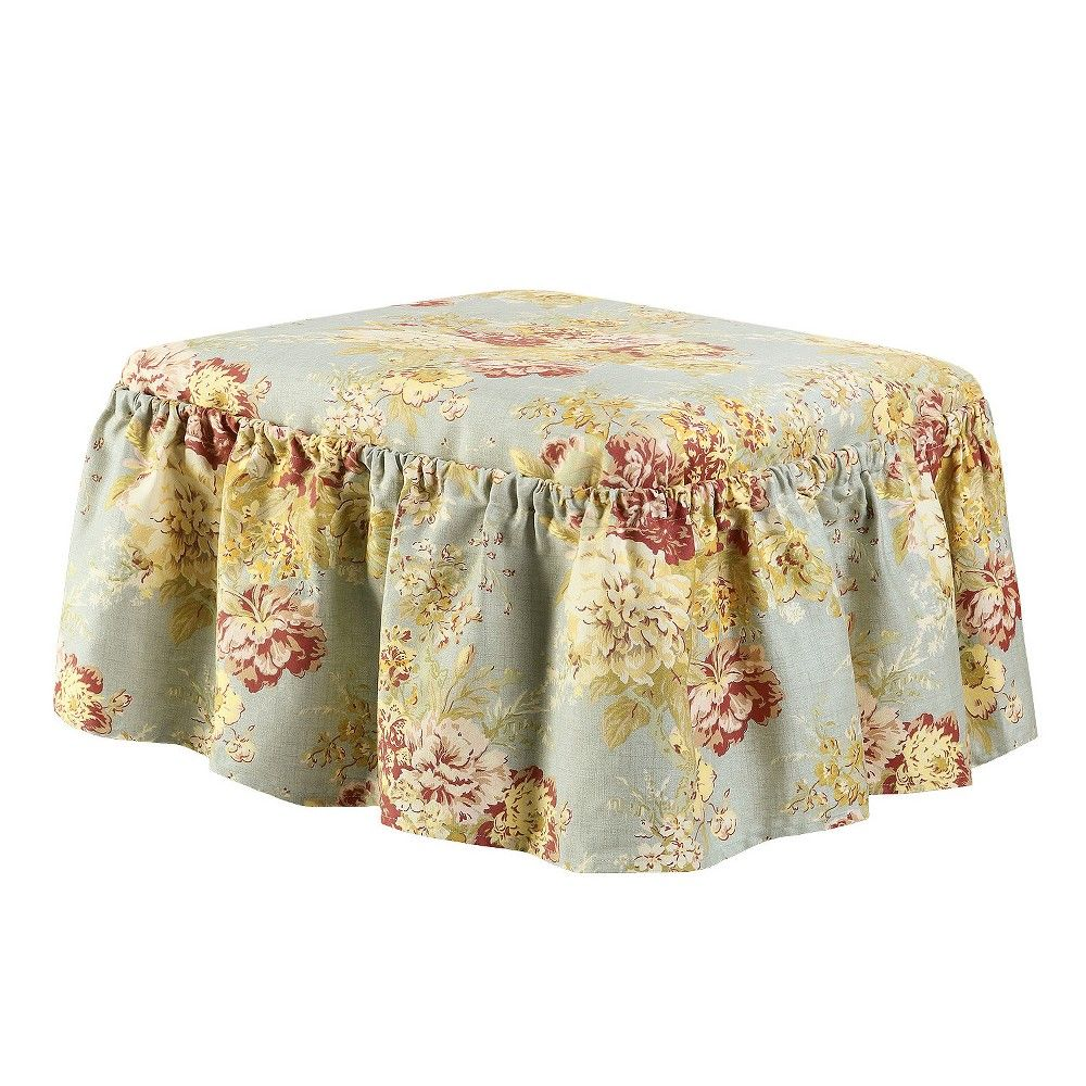Ballad Bouquet 2pc Ottoman Slipcovers for chairs, Shabby