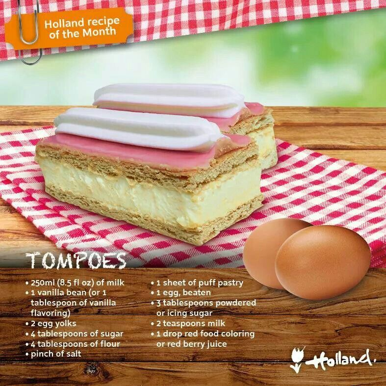 Tompoes pastry #Netherlands #Food #Holland