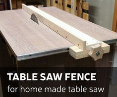 How To Make A Table Saw Fence For Homemade Table Saw Table De Sciage Table Scie Circulaire Et Table Defonceuse