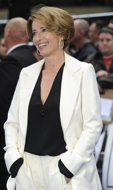 Photo Emma Thompson At Mib 3 Premiere In London Emma Thompson Elegant Hairstyles Hair Styles