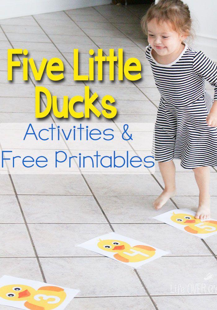 Five little ducks on the pond gross motor activity gross for Gross motor toddler activities
