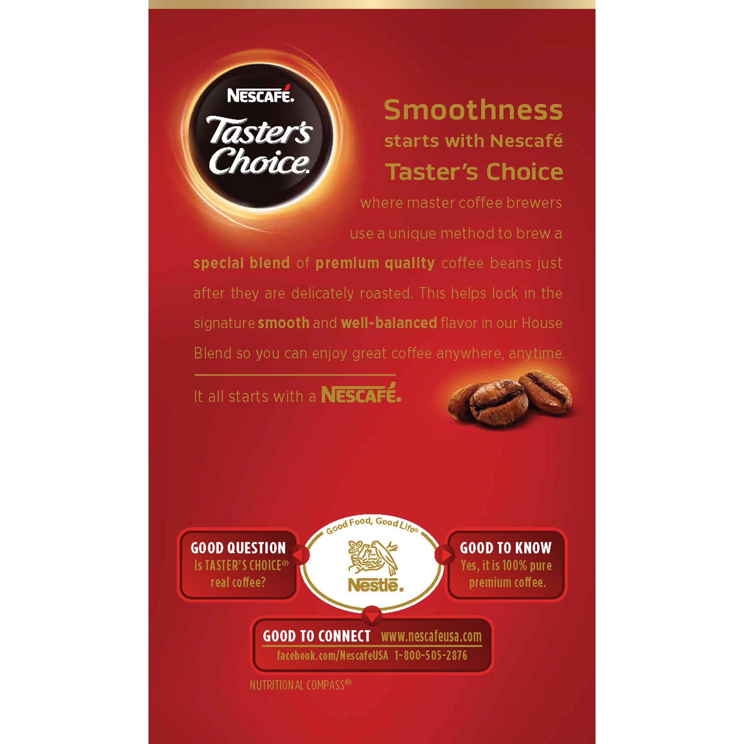 Nescafe Tasters Choice Instant Coffee House Blend 0.1