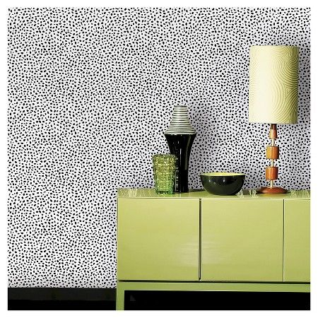 Speckled Dot Peel & Stick Wallpaper Black Opalhouse