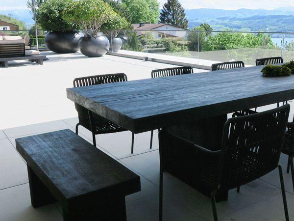 Asien Gartenmöbel | Eisenholz Massivholztische | Gartenlampen | Wetterfeste  Kissen | Lounges   LIVINGDREAMS
