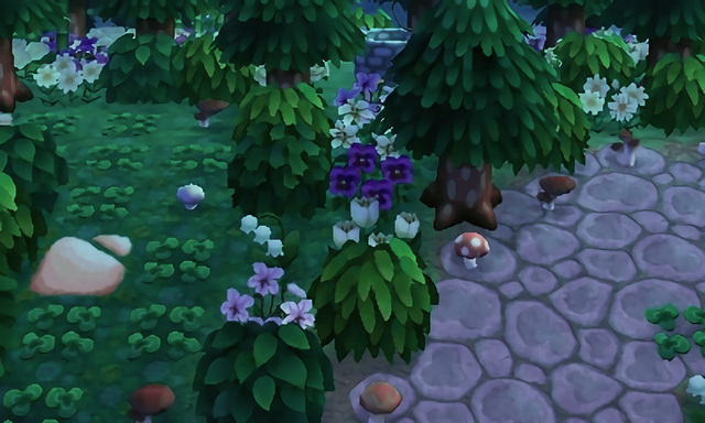 Nature next to town sq. (With images) Animal crossing