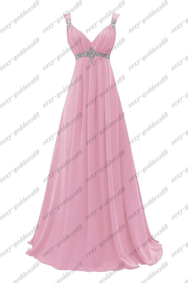 d862669b9f7bc Custom Long Chiffon Evening Formal Party Ball Gown Prom Bridesmaid Dress  6-26#Evening#Formal#Party