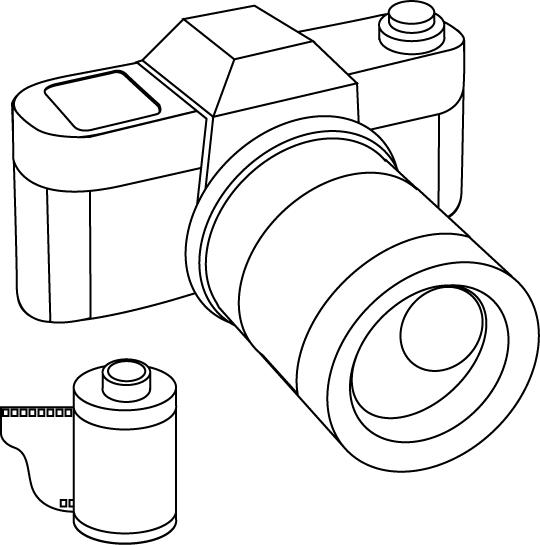 Un appareil photo | Appareil photo, Photos, Coloriage