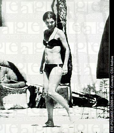 Jacqueline Kennedy Onassis In A Bikini In Skorpios Greece 623