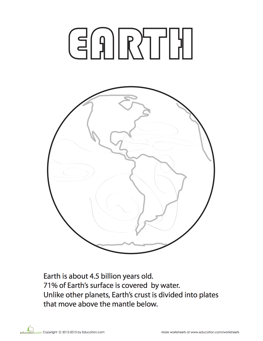 Earth Coloring Page With Images