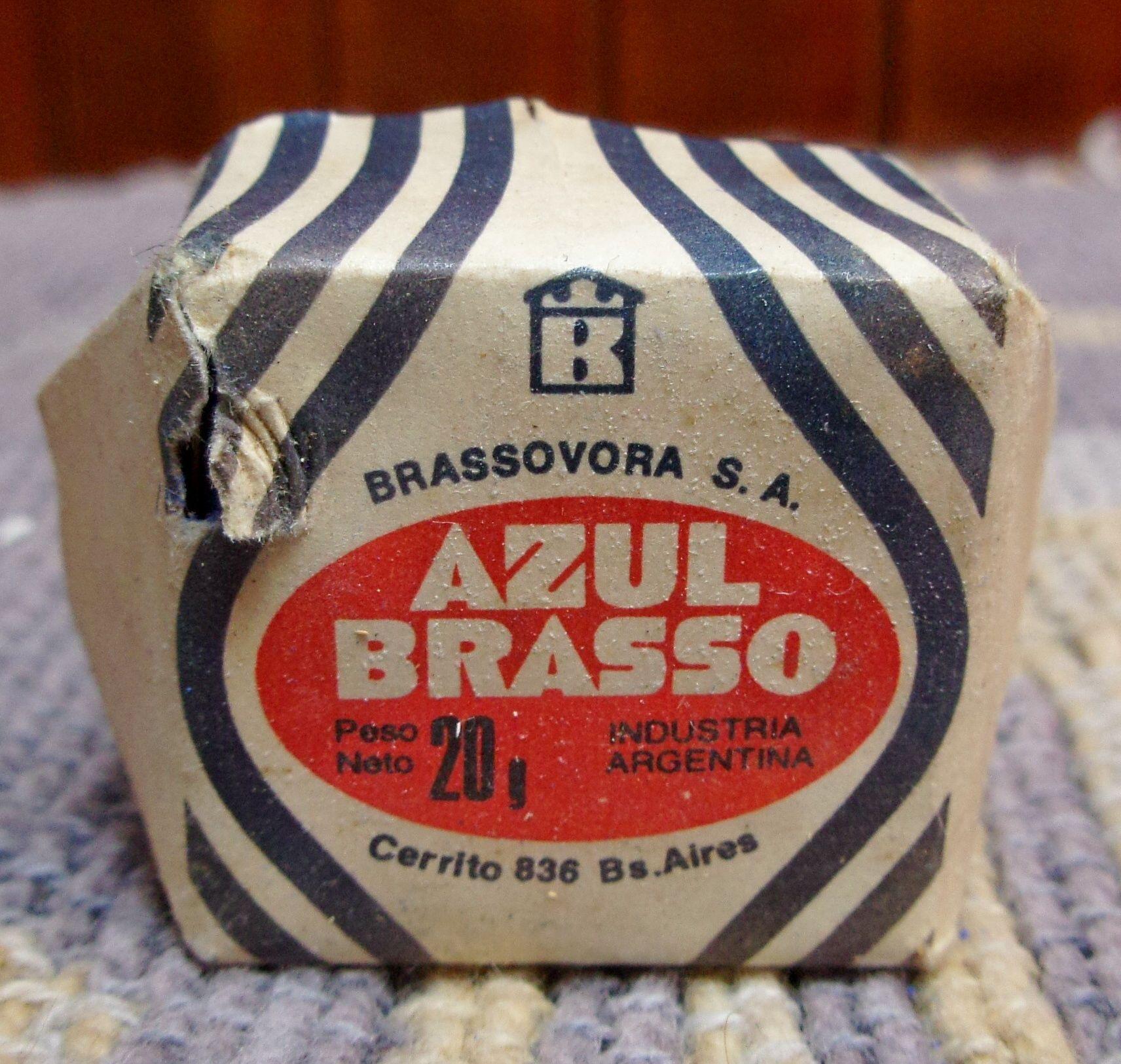 24c4ca2a9f77b PASTILLA AZUL BRASSO.....Década del 60. Esta pastilla era de color ...