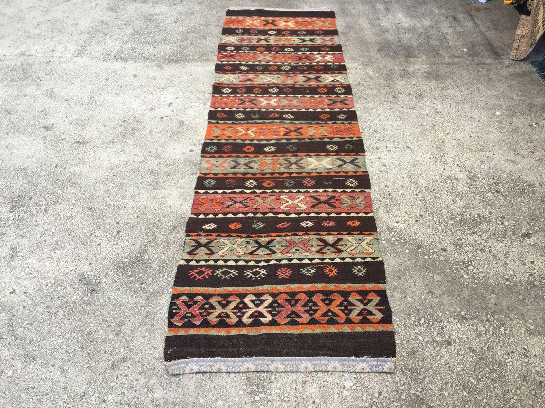 Hallway carpet runners sold by the foot  uxu feetTurkish kilim rug Runner hall rug Anatolian rug