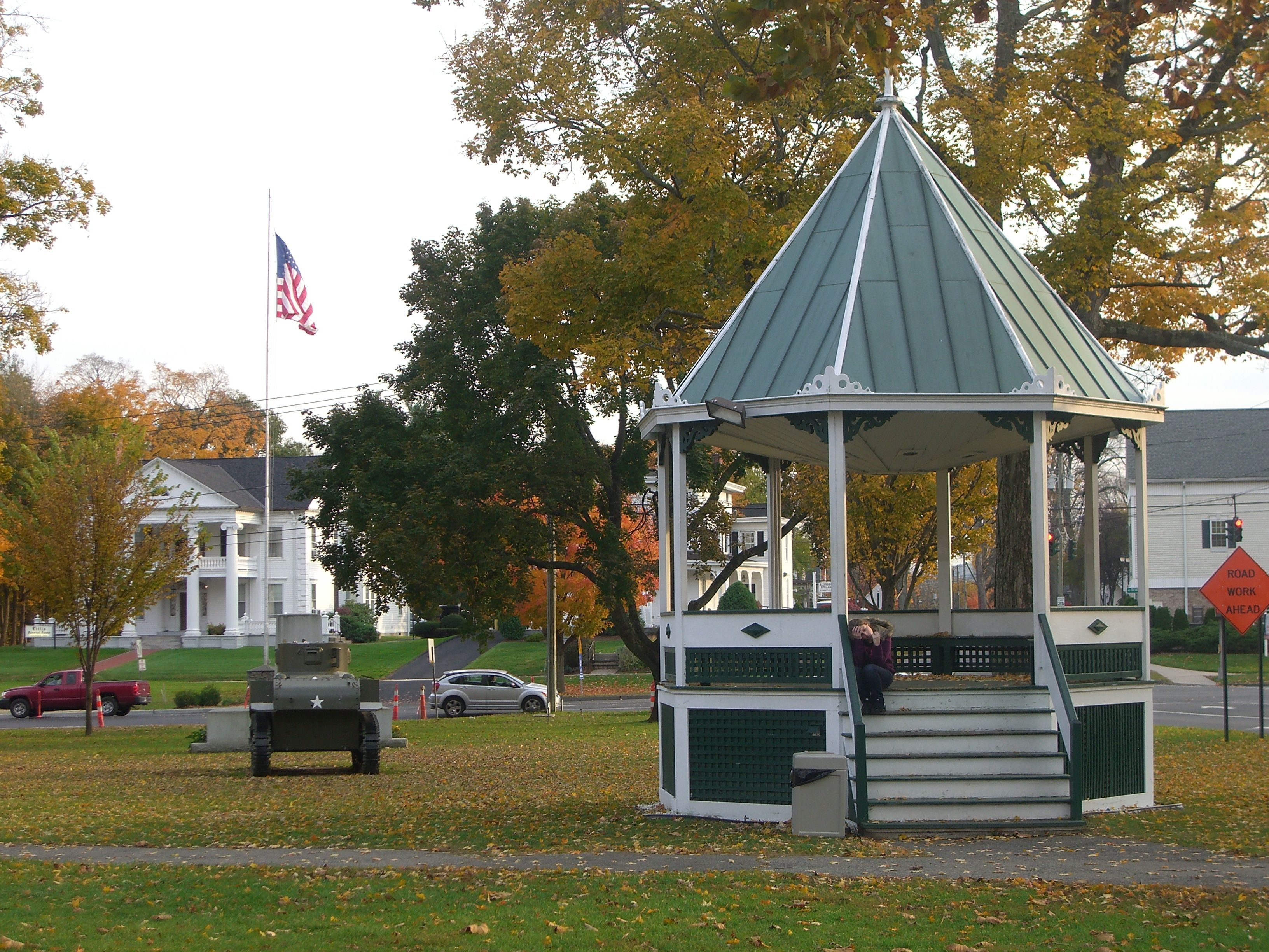 Gazebo In The Town Square New Milford Ct Autumn In New