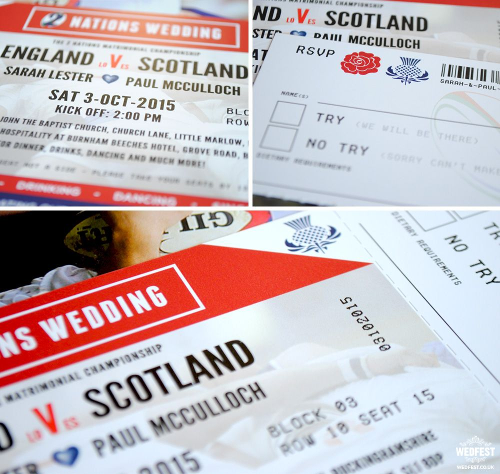 rugby themed wedding invitation http://www.wedfest.co/england-vs ...