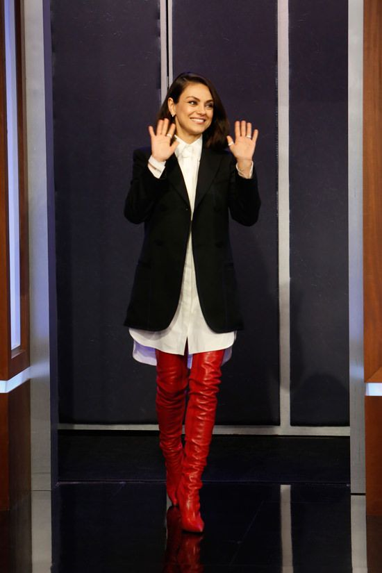 1924c30c0c0 Mila Kunis is Surprisingly Chic and Bold in Fendi on