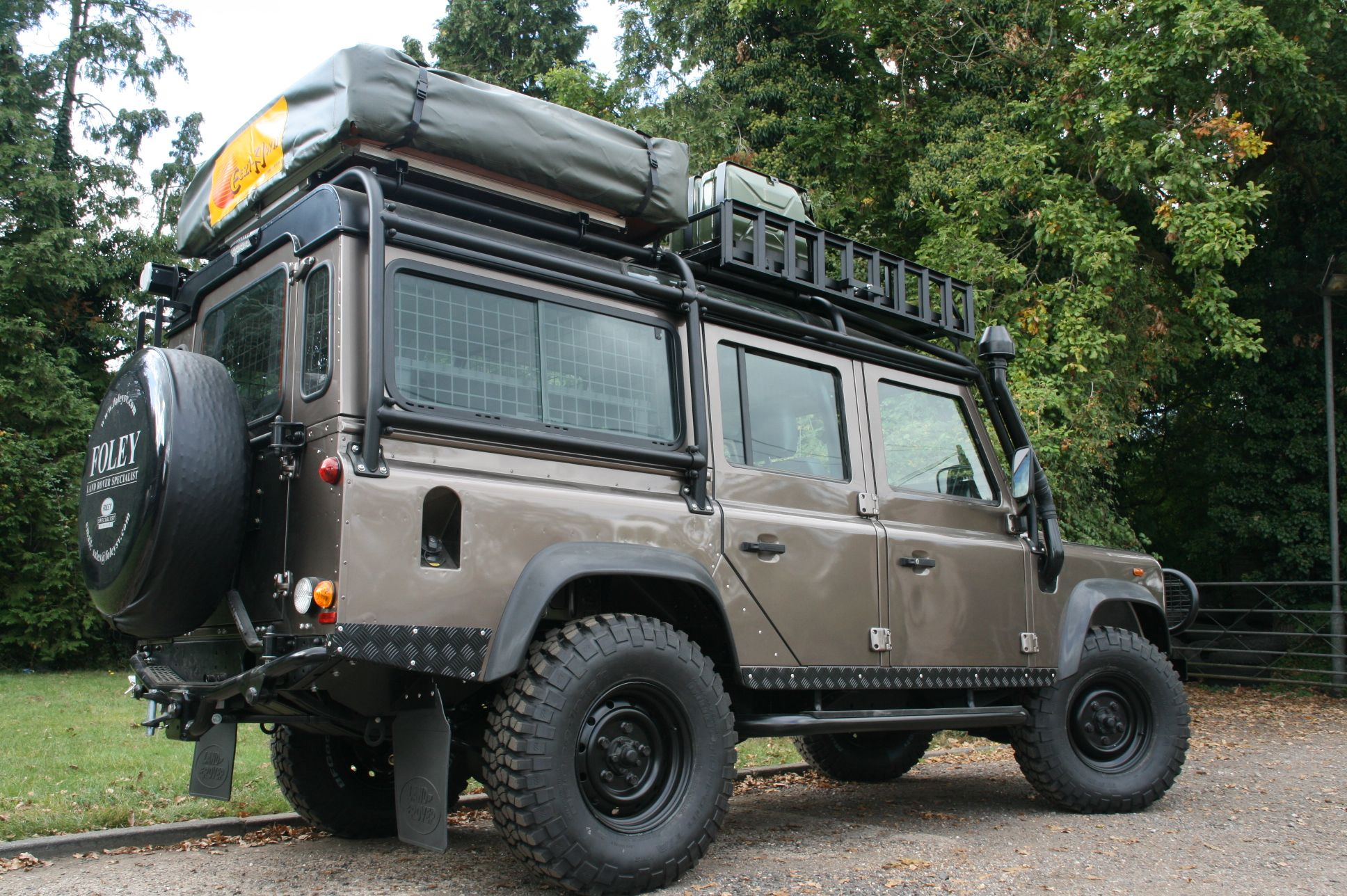 Land Rover Defender 110 with full Foley overland Spec