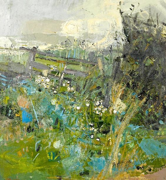 Joan Kathleen Harding Eardley Flowers by the wayside, 1960 - greenery: colour of the year 2017 - melaniemorel.com