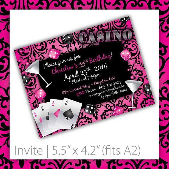 Casino Party Invitations . PRINTABLE . by BlackCherryPrintable, $20.00