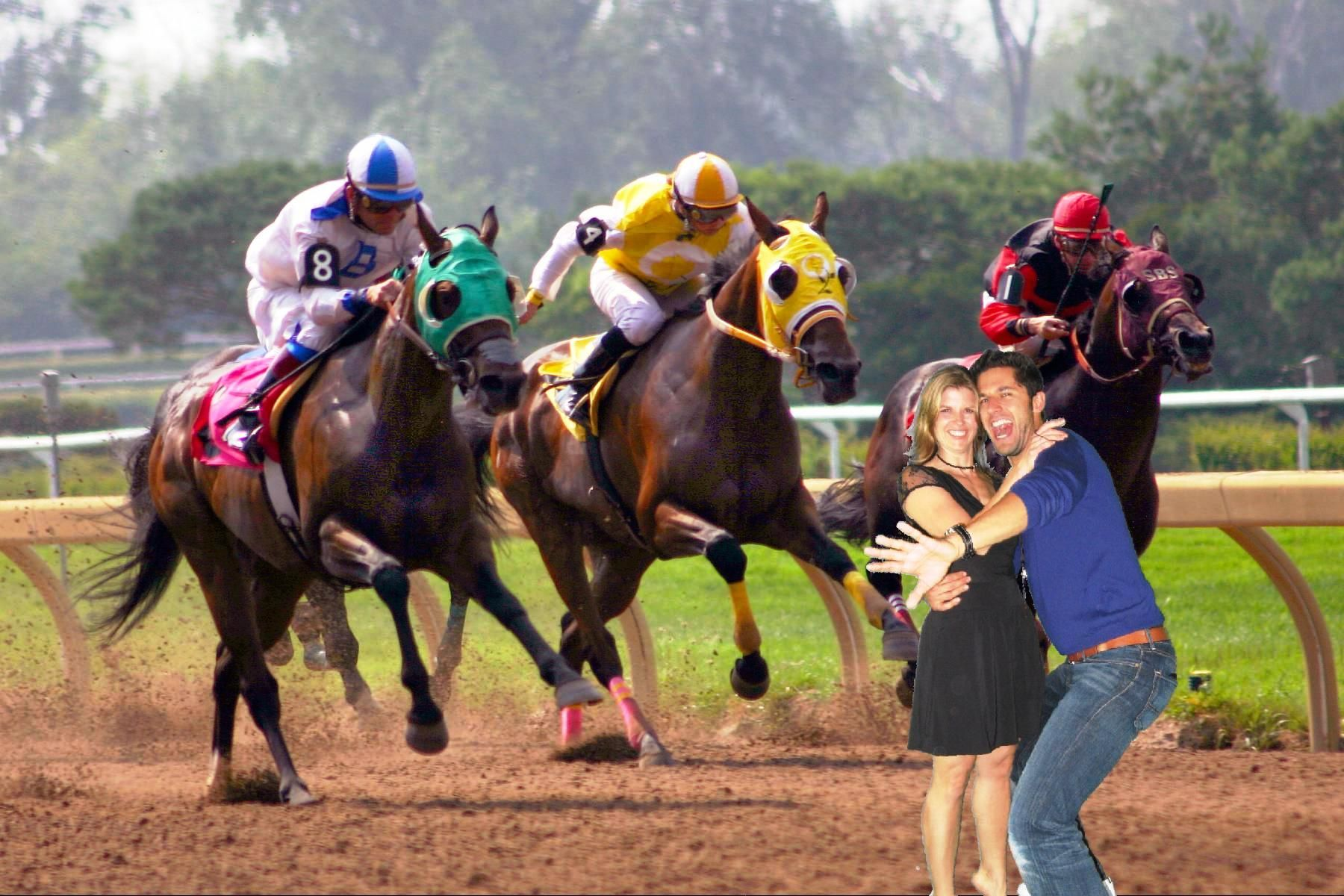 Derby Race Green Screen Background Chicago Party Rentals Horse Competition Horses Racing Posters
