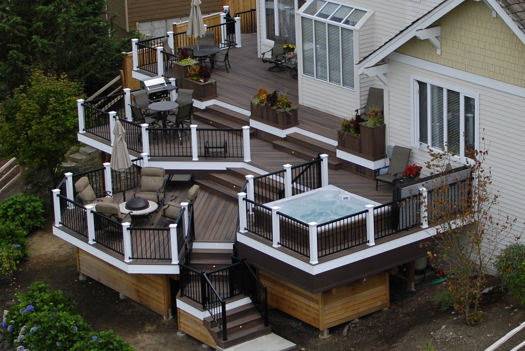 Custom Deck Design Construction Seattle Washington Deck Designs Backyard Patio Deck Designs Deck Design