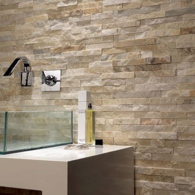 Split Face Brick Sand 100x400 Wall Tile Stone Tile Wall Stone Feature Wall Stone Cladding