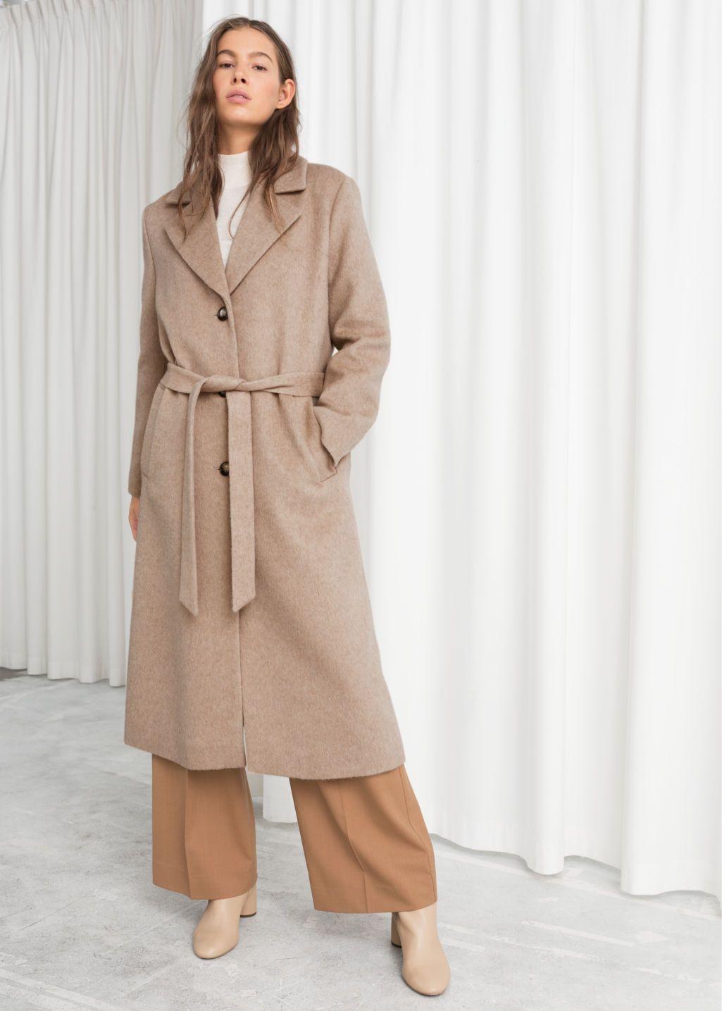 Oversized Alpaca Blend Coat Beige Woolcoats Other Stories Coat Beige Coat Beige Winter Coat [ 1435 x 1025 Pixel ]