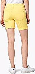 Tom Tailor Damen Tapered Bermuda Shorts, gelb, unifarben, Gr