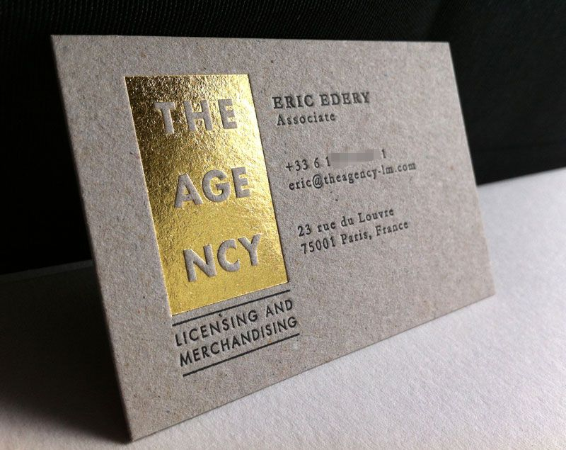 Cool Foil Printed Business Card – The Agency | CardRabbit.com ...