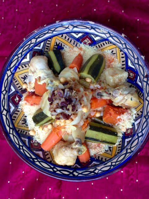 Couscous marocain aux 7 légumes