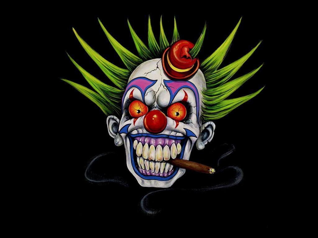 Clown Girl Smoking Cigar Wallpaper Fairy Tale Smoking Clown Cigar Evil Horror Scary Cool