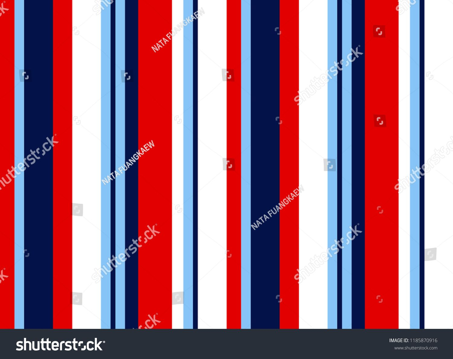 Stripe Seamless Pattern With Blue Red And White Vertical Parallel