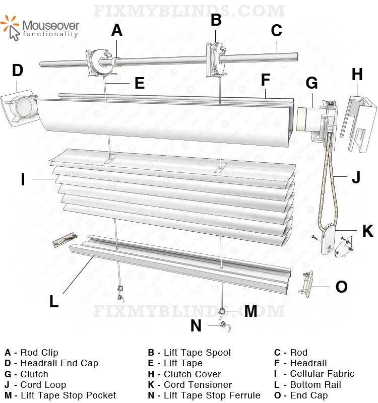 honeycomb cellular shade mounting bracket installation example easy rise cellular honeycomb shade diagram a hunter douglas style cord loop internal flat