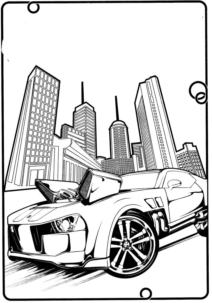 Hot Wheels Cars With The Best Machines Coloring Pages