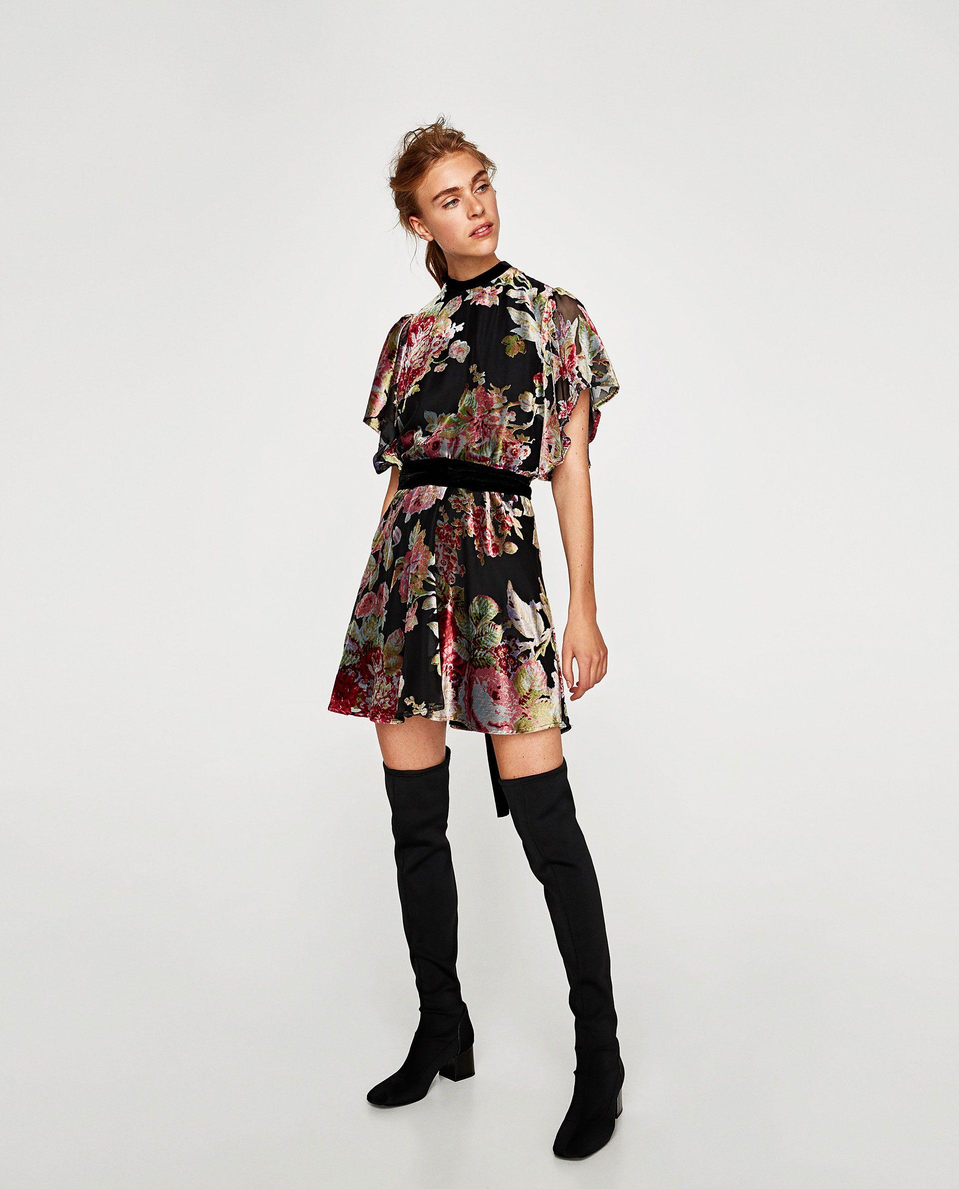 9081bc0e680e VESTIDO MINI TERCIOPELO DEVORADO | Fashion - Zara SS/FW15 | Zara ...