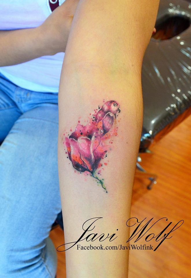 3e2a6837c Watercolor Tulip. Tattooed by @Javi Wolf | Ink | Tattoos, Tulip ...