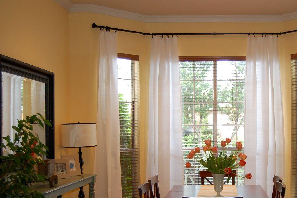 window curtain rods bay window curtain rod
