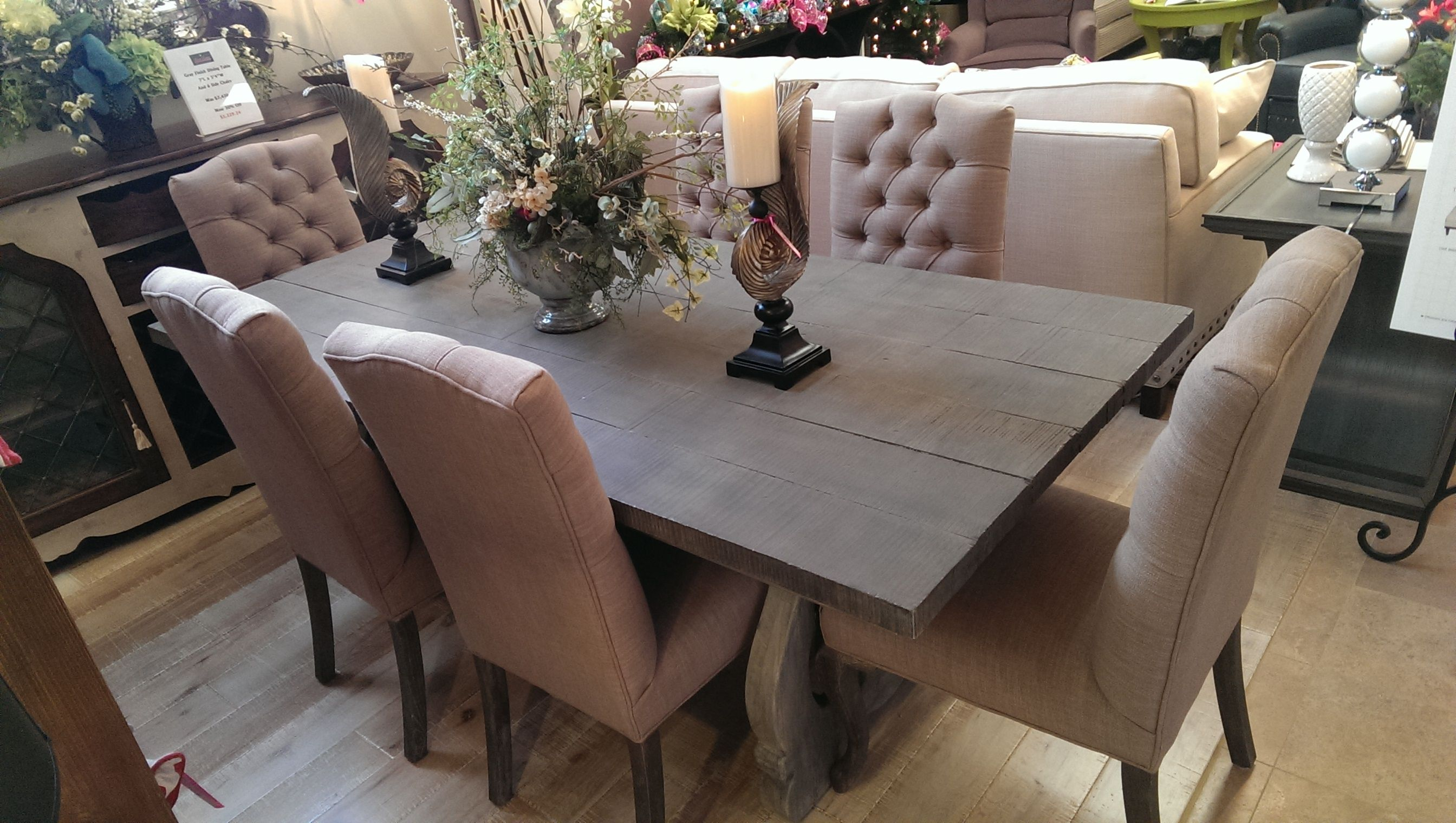Grey Dining Table W 6 Chairs Was $747050 Now $400000  Office Beauteous Grey Dining Room Chairs Review