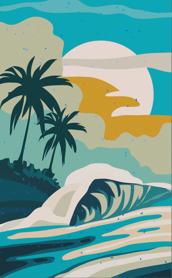 Surfing Waves Abstract Seascape On Behance Surf Art Surfboard