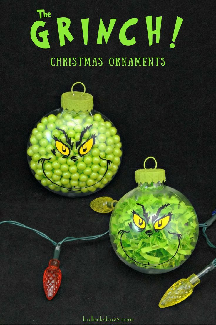 Two Diy Grinch Christmas Ornaments Christmas Ornaments Grinch Christmas Decorations Grinch Christmas Party