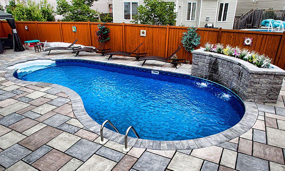Straight Wall Kidney Inground Pool Mermaid Pools Ottawa Ontario Pool Renovation Inground Pool Designs Swimming Pool Renovation