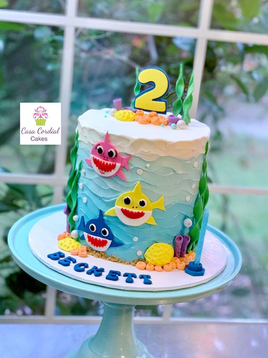 Baby Shark Do Do Dodo Dodo Boy Birthday Cake Themed Cakes Shark Theme Birthday