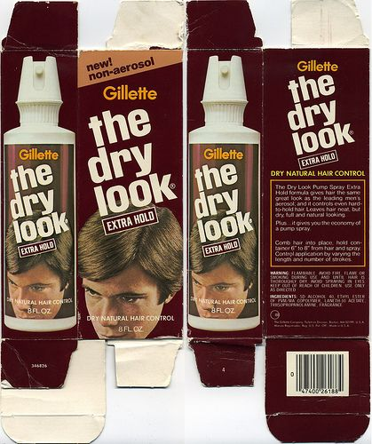 No It Isn T Food But Surely You Want To Remember Gillette S The Dry Look Hairspray For Men