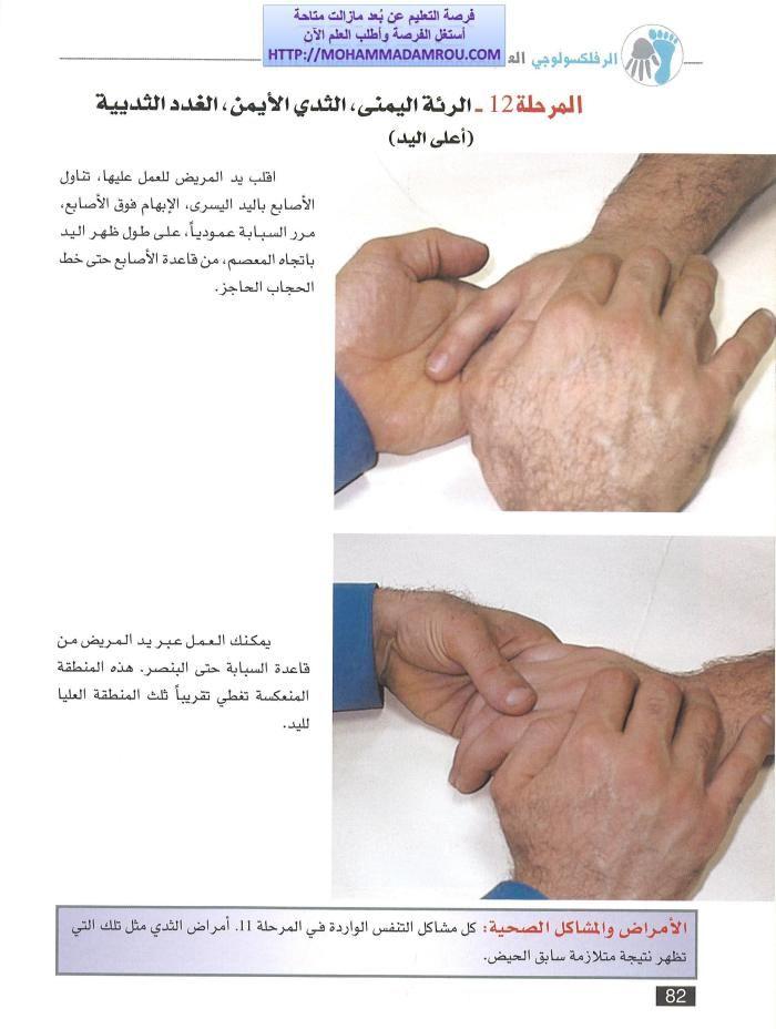 كتاب العلاج الشامل للجسم عبر تدليك اليدين والقدمين رفلكسولوجي Reflexology Hands Massage