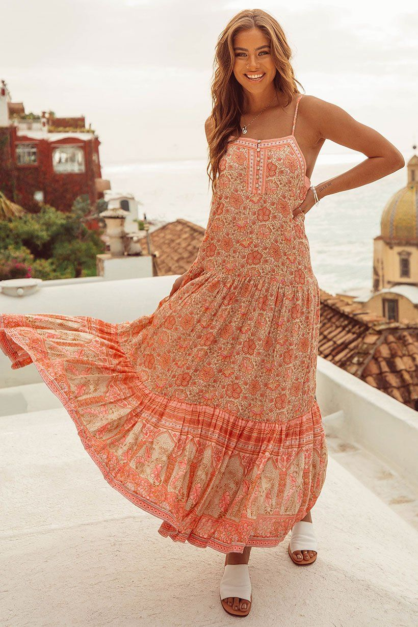 010b3a1cd089 Poinciana Strappy Maxi Dress in 2019 | Summer Somewhere | Strappy ...