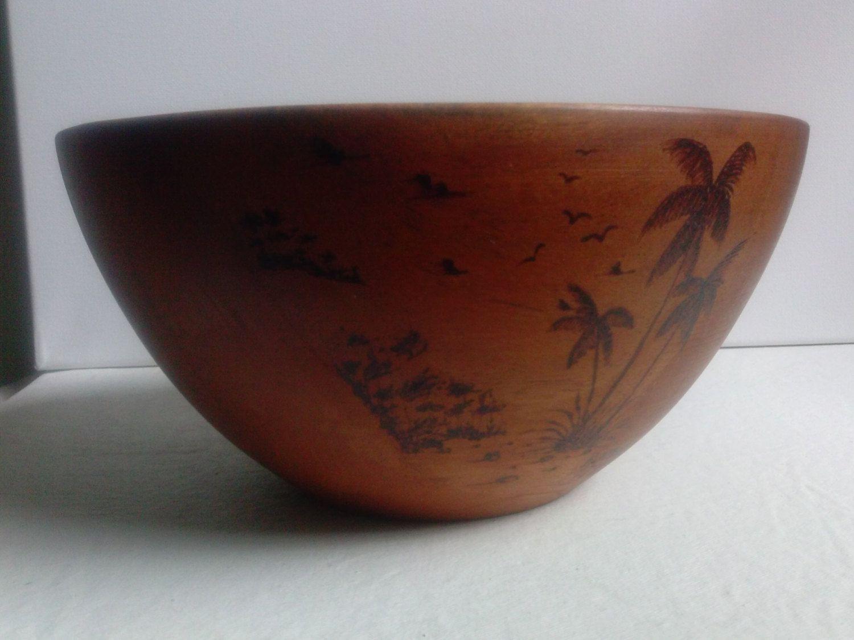 wood bowl by REGINALDHENRYGALLERY on Etsy
